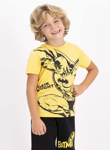 Batman Batman Lisanslı Lisanslı Mimoza Bisiklet Yaka Erkek Çocuk Bermuda Takım Sarı